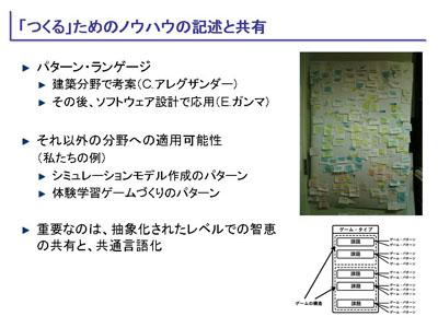 図:「つくる」ためのノウハウの記述と共有
