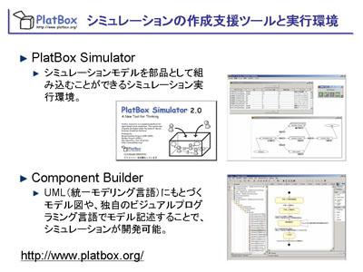 図:シミュレーションの作成支援ツールと実行環境