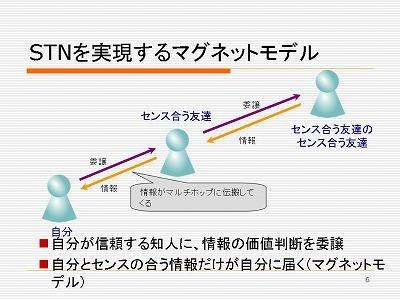 図:STNを実現するマグネットモデル